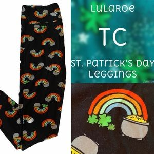 LuLaRoe TC Leggings St. Patrick's Day Pot of Gold
